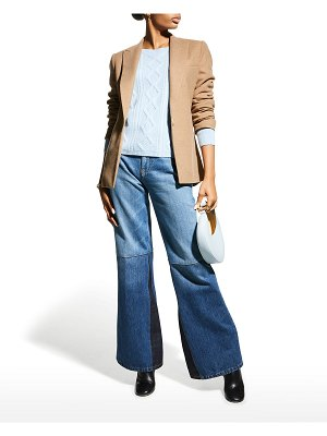 Neiman Marcus Cashmere Collection Cashmere Ribbed Cable-Knit Sweater