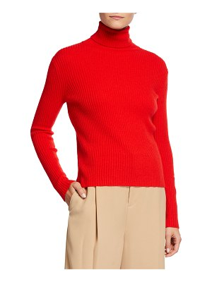 Neiman Marcus Cashmere Collection Cashmere Ribbed Turtleneck Sweater