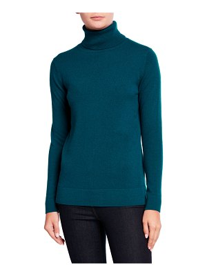 Neiman Marcus Cashmere Collection Cashmere Turtleneck Sweater