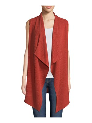 Neiman Marcus Cashmere Collection Cashmere Variegated-Rib Vest