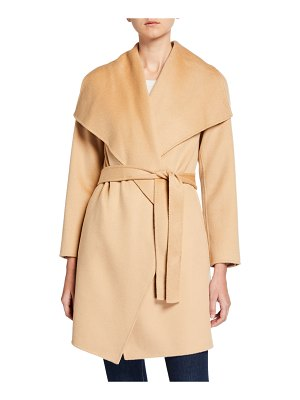 Neiman Marcus Cashmere Collection Double Face Cashmere Belted Shawl-Collar Coat
