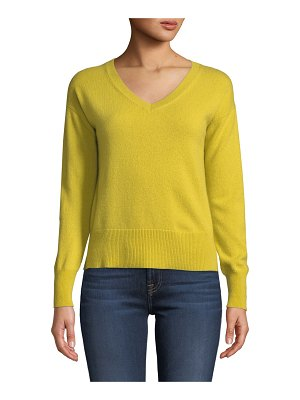 Neiman Marcus Cashmere Collection Easy V-Neck Cashmere Pullover Sweater