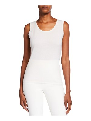 Neiman Marcus Cashmere Collection Modern Cashmere Tank