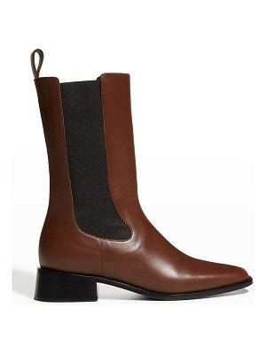 Neous Leather Gored Chelsea Boots