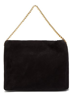 Neous orbit chain-strap suede shoulder bag