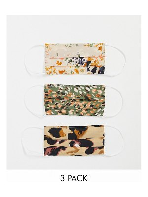 Never Fully Dressed 3-pack abstract print face coverings-multi