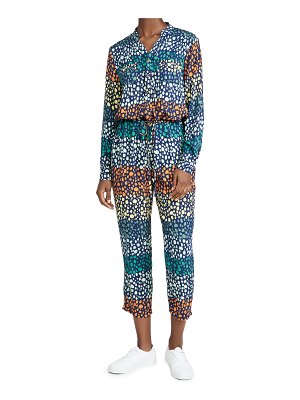 Never Fully Dressed teal viscose patsy jumpsuit