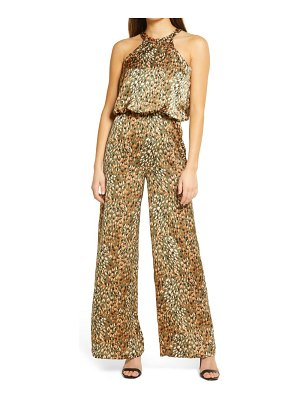 Never Fully Dressed willow halter neck satin jumpsuit