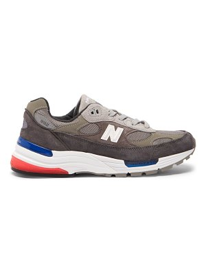 New Balance 992 suede and mesh trainers