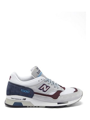 New Balance made in england 1500 leather and mesh trainers