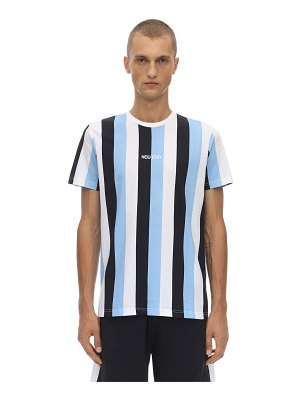 NEW ERA Ne contemporary stripe cotton t-shirt