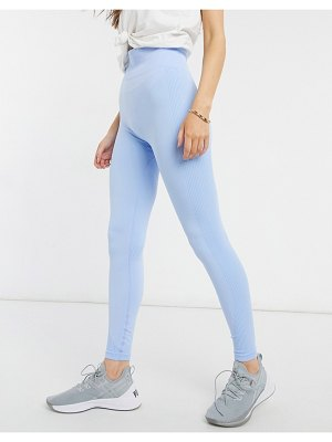 New Look active seamfree sculpting leggings in mid blue-blues