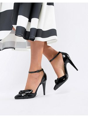 New Look bow front cone heel shoes