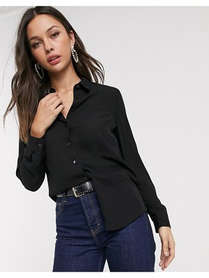 New Look button down shirt in black