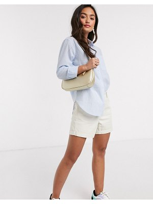 New Look button shirt in blue stripe