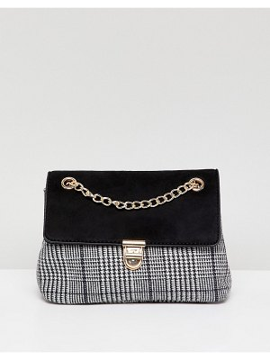 New Look check chain shoulder bag