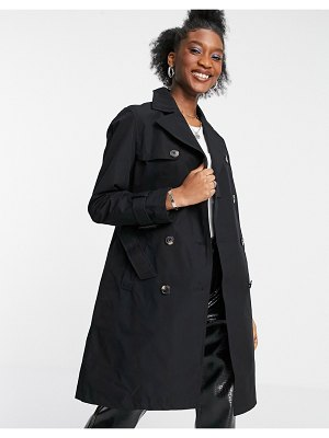 New Look classic trench coat in black
