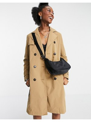 New Look classic trench coat in camel-brown