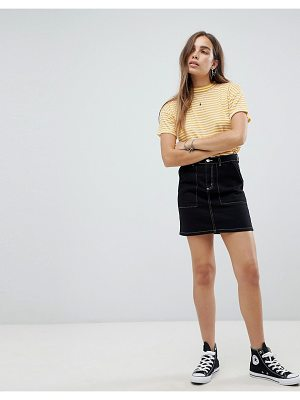 New Look contrast stitch skirt