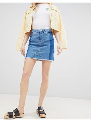 New Look Deconstructed Denim Mini Skirt