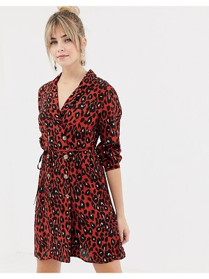 New Look double breasted shirt dress