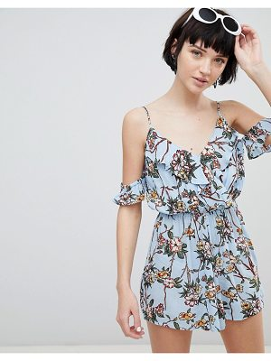 New Look floral printed cheesecloth romper