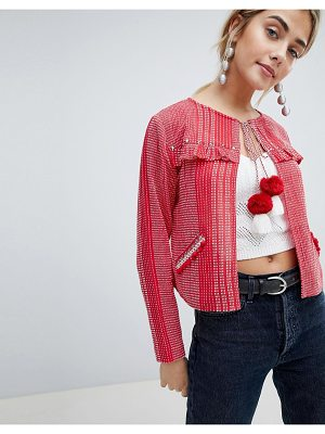 New Look Frill Cover Up Jacket