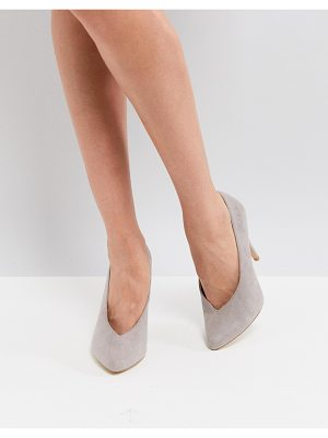 New Look High Vamp Pointed Court Shoe