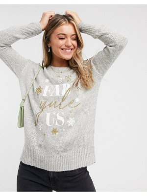 New Look holidays sweater in gray