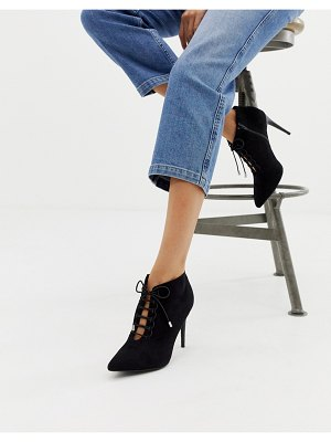 New Look lace up heeled shoe