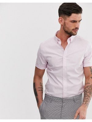 New Look oxford shirt in muscle fit in light pink