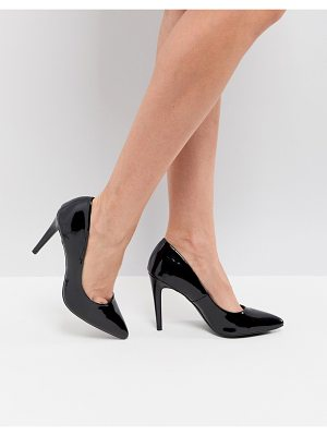 New Look Patent Pointed Court Shoe