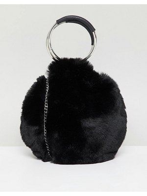New Look Round Fur Bag