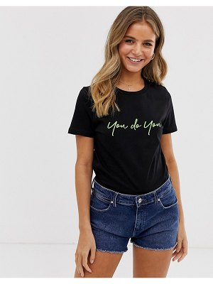 New Look slogan you do you tee in neon-black