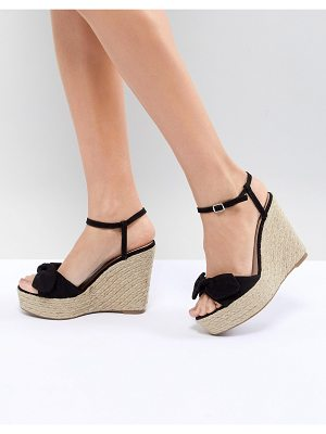New Look Suedette Bow Wedge