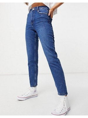 New Look waist enhance mom jean in blue-blues