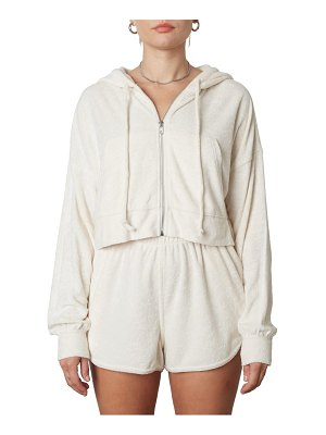 NIA french terry crop hoodie