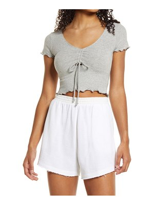 NIA ruched crop top
