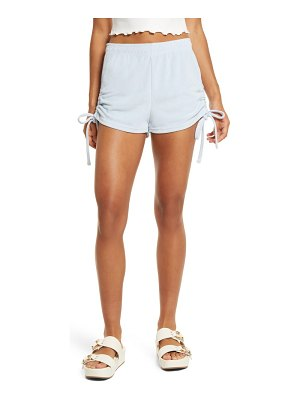 NIA side ruched cotton blend terry shorts