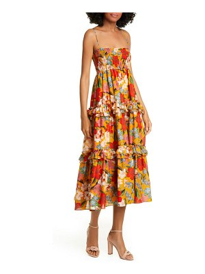 NICHOLAS floral print midi dress