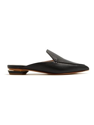Nicholas Kirkwood beya grained leather backless loafers