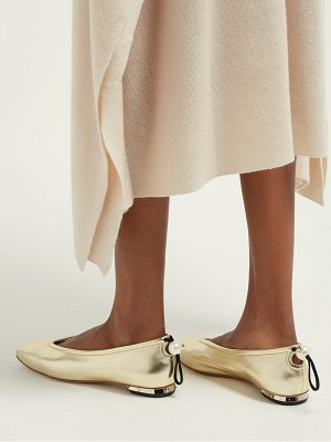 Nicholas Kirkwood delfi pearl toggle leather ballet flats