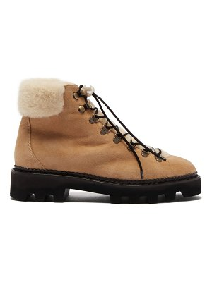 Nicholas Kirkwood delfi shearling and suede hiking boots