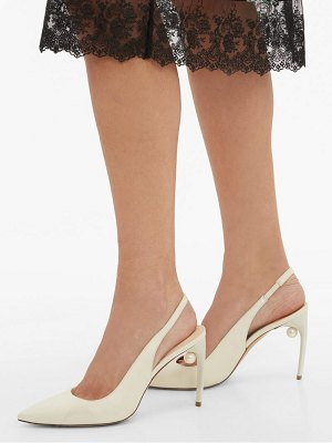 Nicholas Kirkwood mia pearl heeled slingback leather pumps