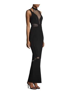 NICHOLAS Layered Sheer Inset Gown