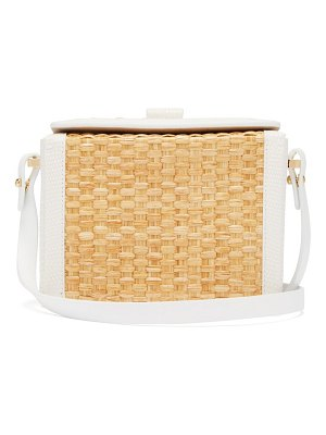 NICO GIANI cerea mini straw and lizard-embossed leather bag