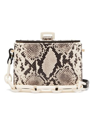 NICO GIANI cerea python-effect leather shoulder bag