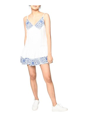 Nicole Miller Magnolia Lei Embroidered Babydoll Dress