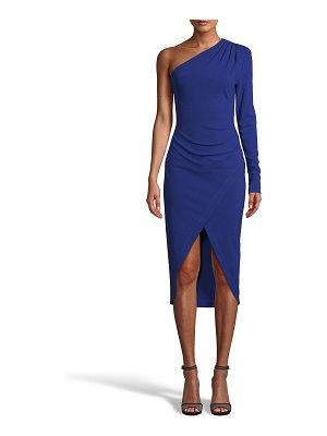 Nicole Miller One-Shoulde Jersey Sheath Dress
