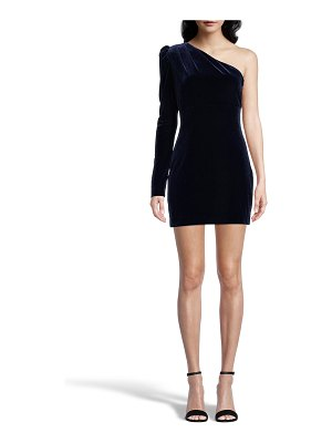 Nicole Miller One-Shoulder Velvet Mini Dress